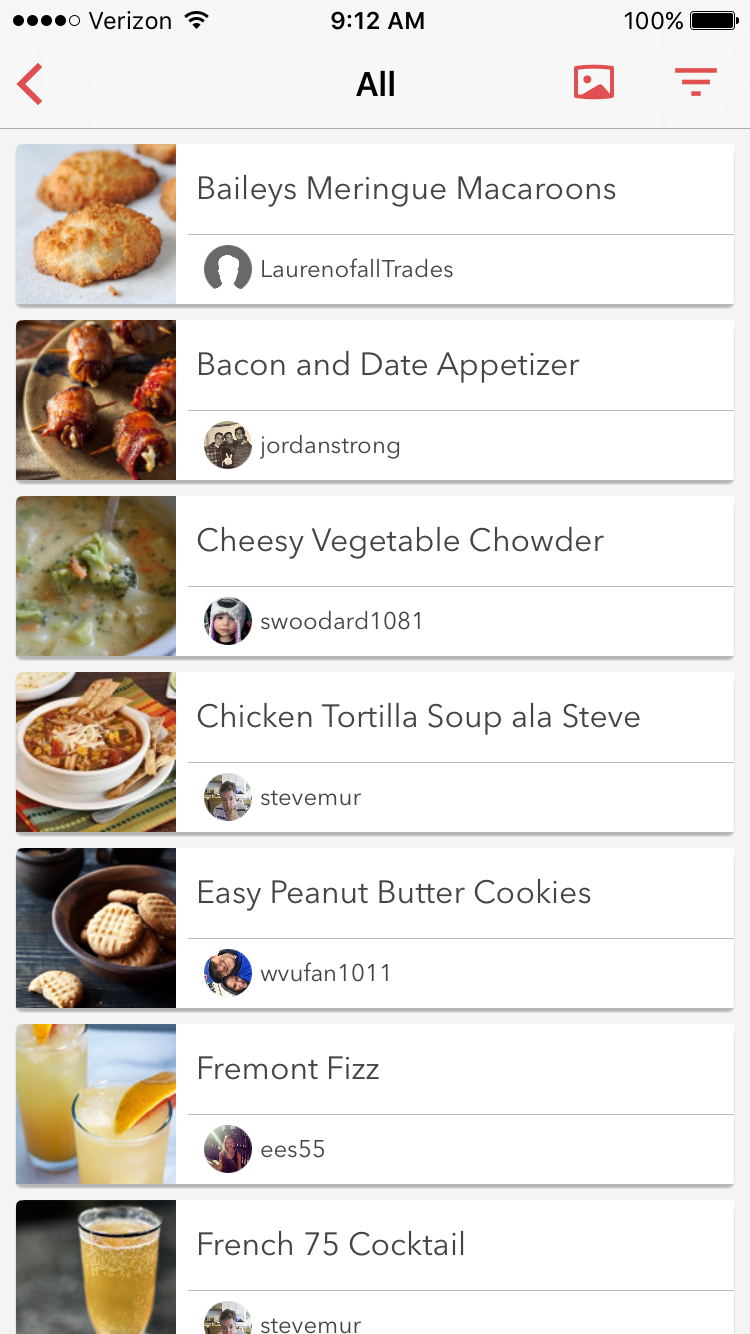 How do i view my recipes in list view bigoven support you can also adjust this within your general device settings simply visit the bigoven section and toggle my recipes view to compact list view forumfinder Image collections